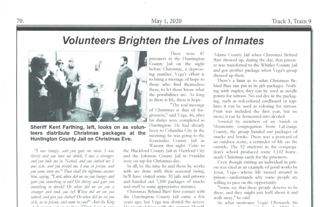 Volunteers Brighten the Lives of Inmates